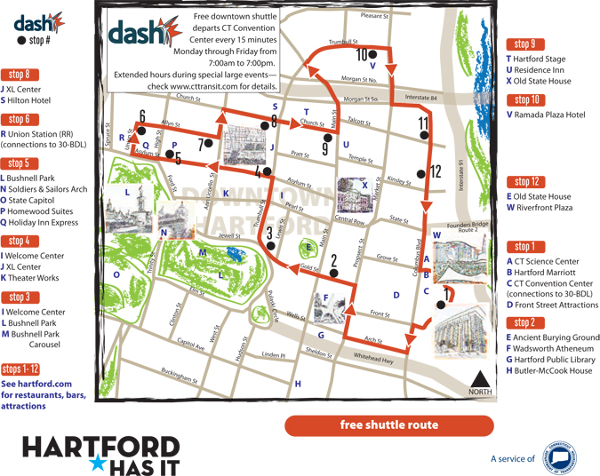 dash Shuttle Hartford Parking Authority